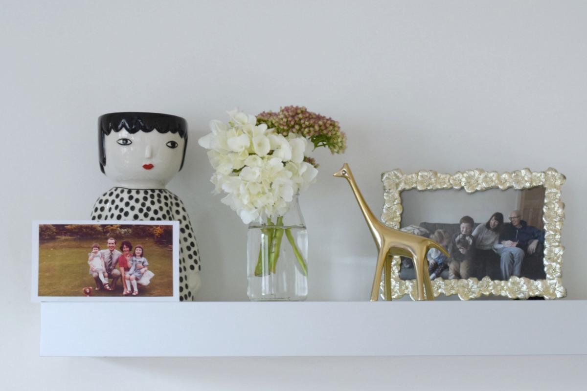 Dad photo shelf