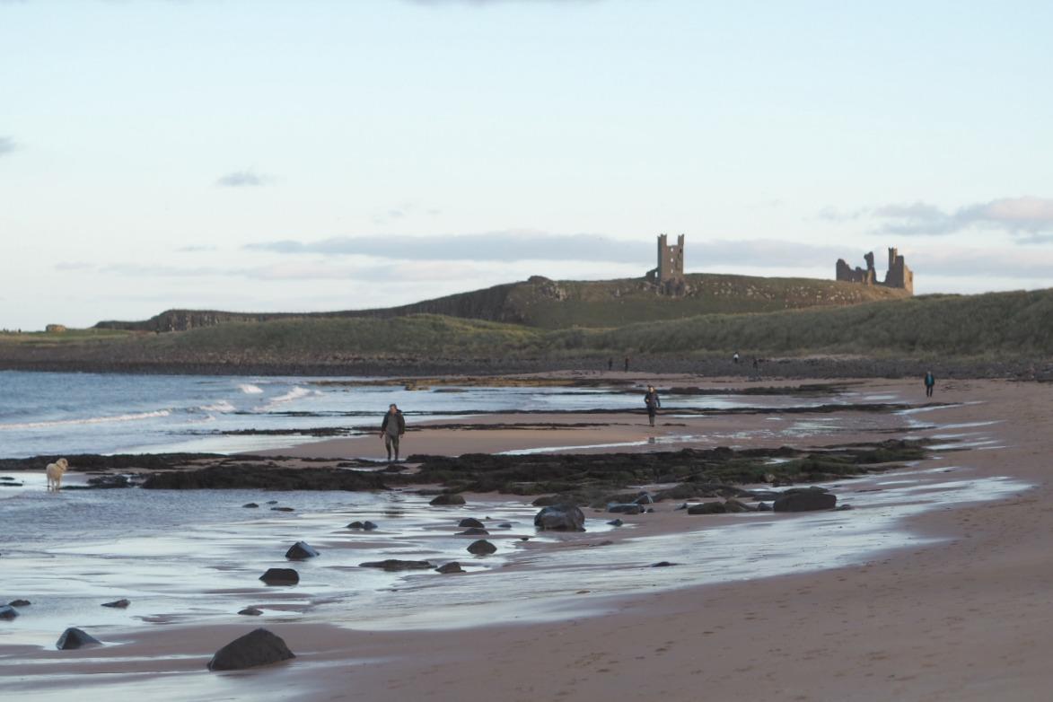 Embleton beach Dunstanburgh