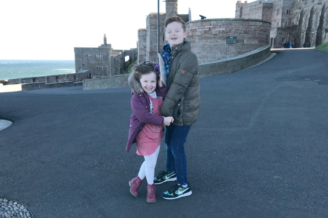 Sam and Flo Bamburgh Castle